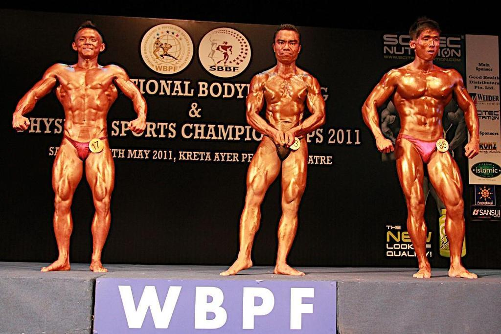 MEN S ATHLETIC PHYSIQUE UP TO 165CM 1 st Placing Lin Jia Xiang Max 2 nd Placing Winson Ang Jian Wei 3 rd Placing Kamarruzaman A Aziz PHOTOS FOR