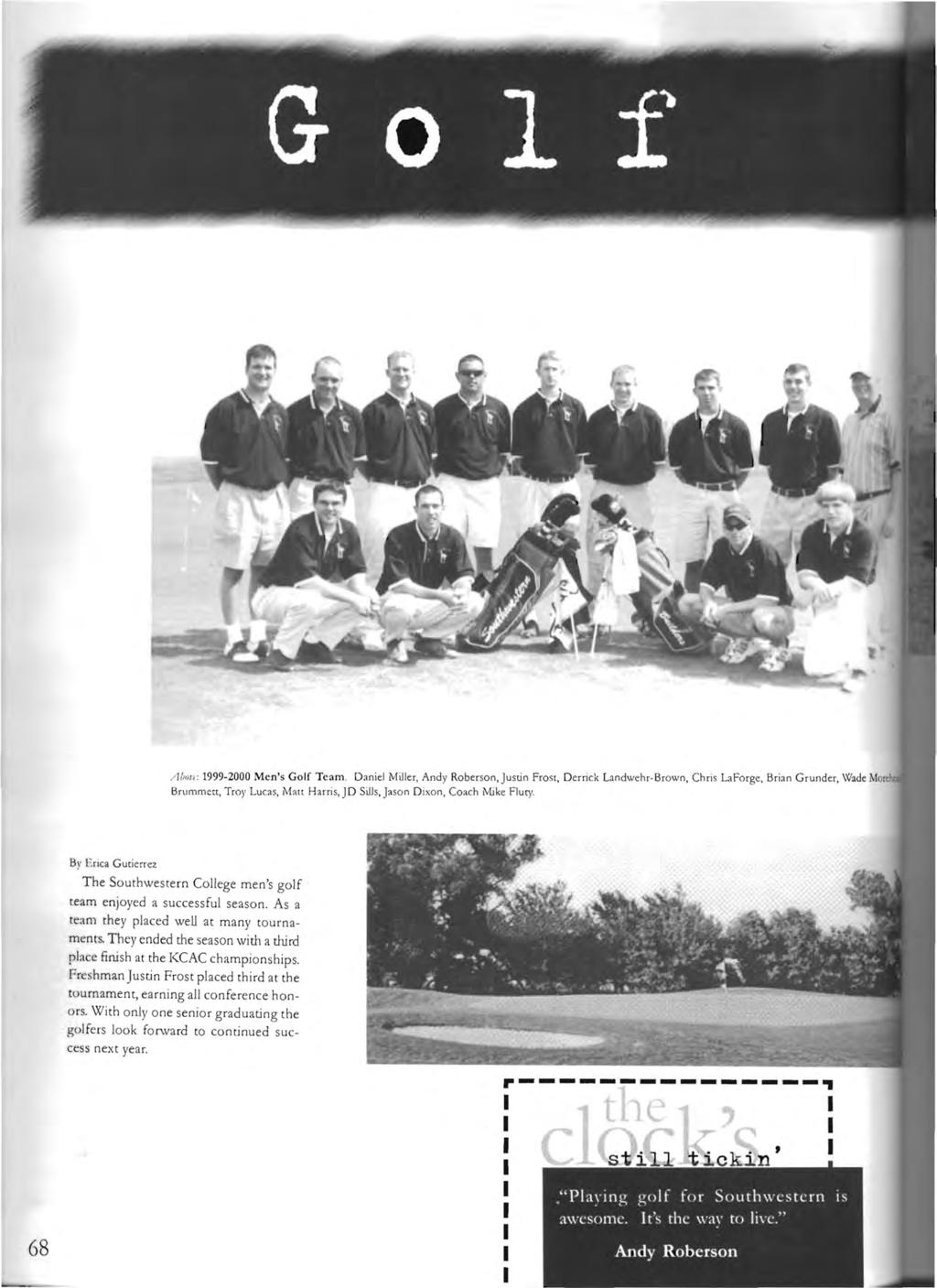 / lbn/.'( : 1999 2000 Men's Golf Team.