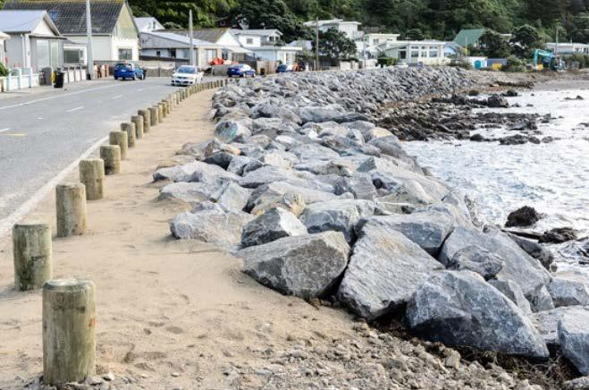 Concrete Seawall Rock Revetment / Key Issues / Considerations / Factual Vertical seawalls can be used in combination with groynes, renourishment and/or rock revetments Effective at reducing erosion