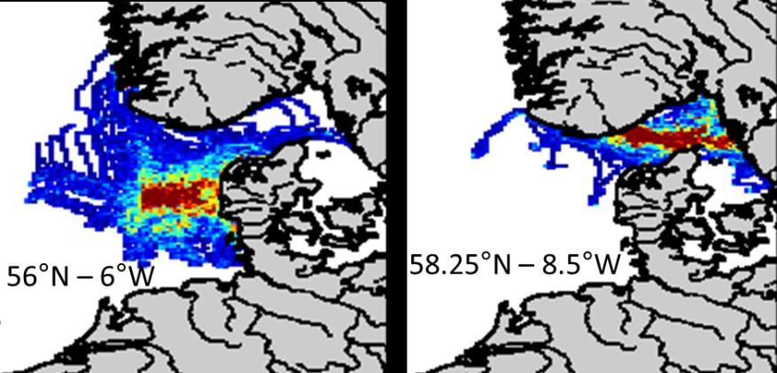 sub-areas of the North Sea totally disconnected! 3.