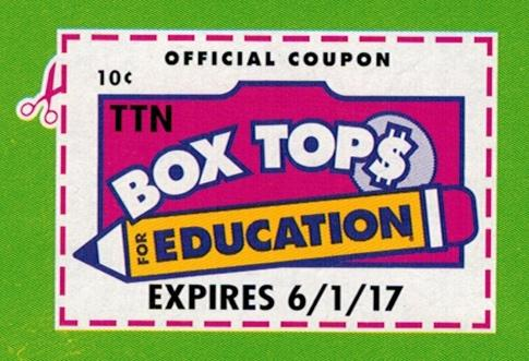 Box Tops for Education The PE department is collecting Box