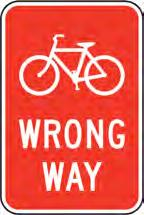 Wayfinding, destination, or directional information signs should be provided at important locations along bike paths.