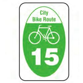 Class II bike lane signs should be placed at the beginning of each designated bike lane, on the far side of the arterial intersections, at major changes in direction,