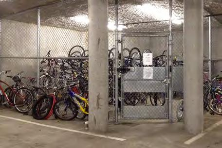 Bike racks should support the bicycle upright and in two places, enabling the frame and one or both wheels to be secured.
