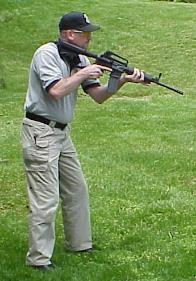 8.5 Shoulder Ready Position: A long gun handling position.