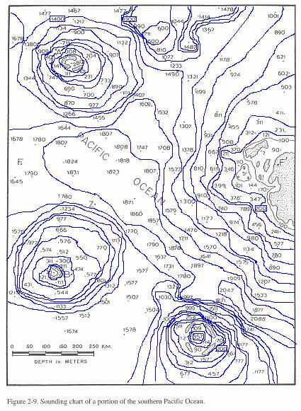 14 August 2008 HW-2b: - Bathymetric Profiles 8 2. Portion of the southern Pacific Ocean a. On the southern Pacific Ocean chart (Figure 2-9) contoured in Exercise 1 are the letters FF'.