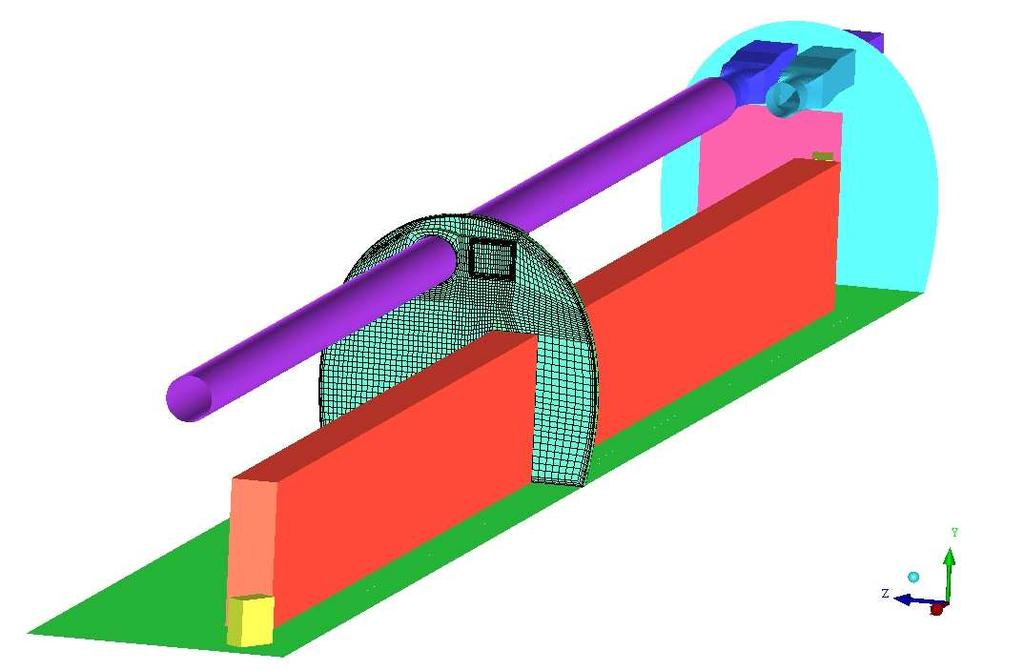 Proceedings of Building Simulation 2011: Exhaust Duct Supply Duct Technical Equipment Cupboard 2 Technical Equipment Cupboard 1 thermal load Hexahedral cells at a cut plane Figure 3: 3-Dimensional