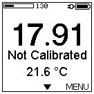 3 Calibration Menu After adjusting the sensor Settings (see chapter 6.2) and the local date and time in the Options menu (see Adjust Time and Date in chapter 6.4.