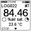 7.1.2 Continuous Logging Select the logging mode Continuous and press the OK button. In this mode data points are periodically logged with adjustable sample intervals and total logging duration.