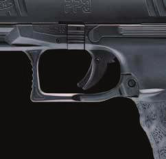 01 Optional magazine release The PPQ is also available with a magazine release on both sides, distinguishing it from the M2 version.