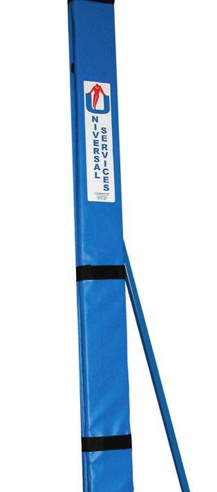 Volleyball - Posts, Padding, Nets & Umpires Stand TELESCOPIC SOCKETED VOLLEYBALL POSTS VBL/00/INT,7.