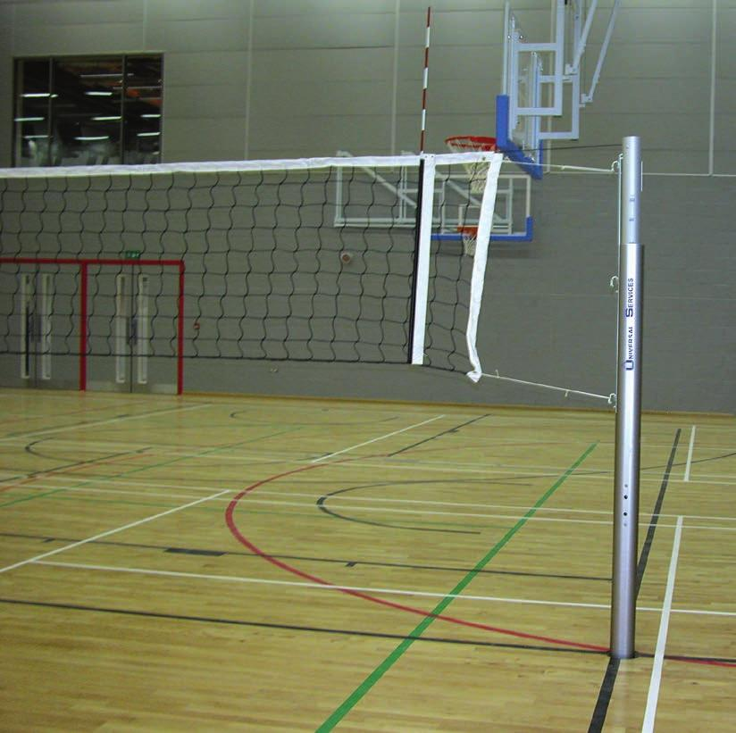 Thanks to the compact construction there are no protruding elements and these posts offer easy control of the net from m up to.m. The tightening mechanism meets the class A standard of EN 7:98 as well as FIVB standards These posts conform to BSEN 7 Type POST PROTECTION PADDING VBL/006/PAD 06.