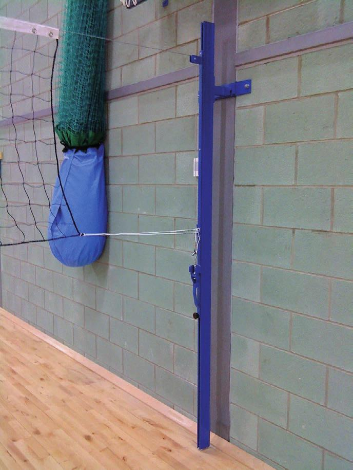 Volleyball - Posts & Net Wall Slides SITTING VOLLEYBALL POSTS VBL/00/SEA 68.