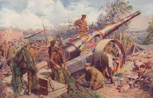 Change 2: Artillery Became More Powerful For much of the war, all day, every day, artillery would pound the enemy s trenches with hundreds of shells.