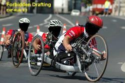 24 passing handcyclist.