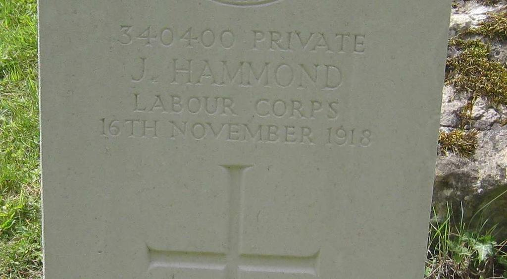 Son of William Hammond and the late Elizabeth Hammond of Paddlesworth, Snodland, West Malling, Kent. Buried East Peckham (St.