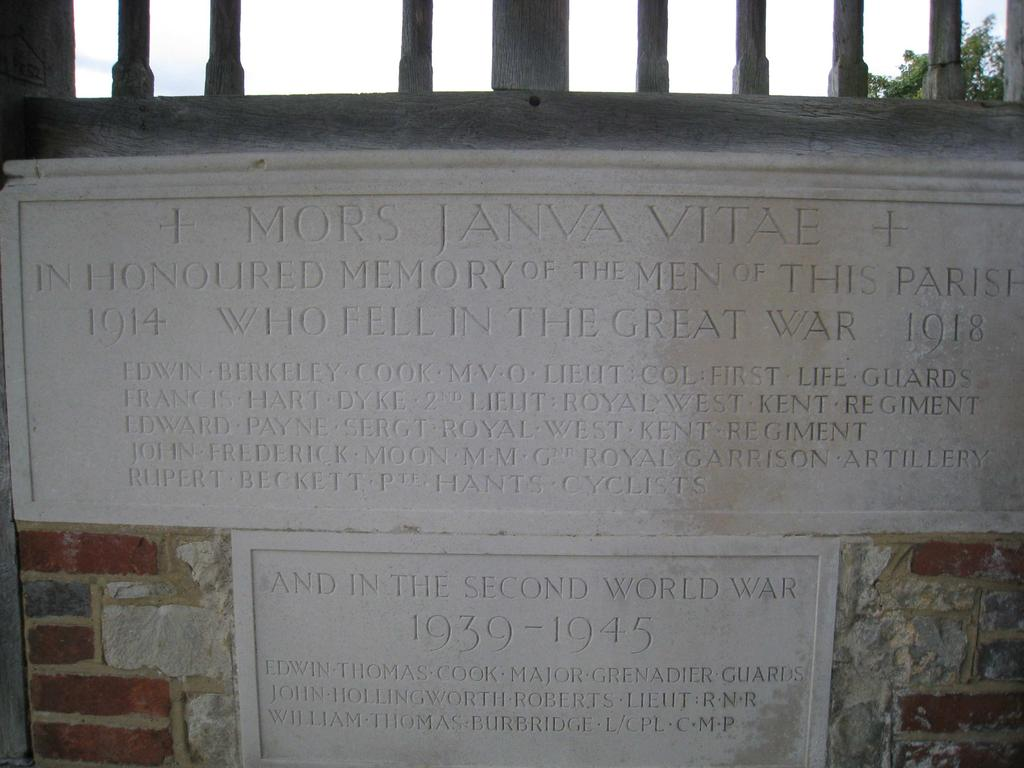 the fact that he is not commemorated at Snodland, or at West Farleigh, and