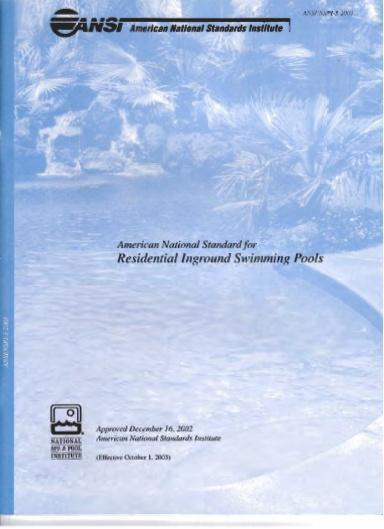 2009 IRC - Appendix G AG103 Swimming Pools AG 103.