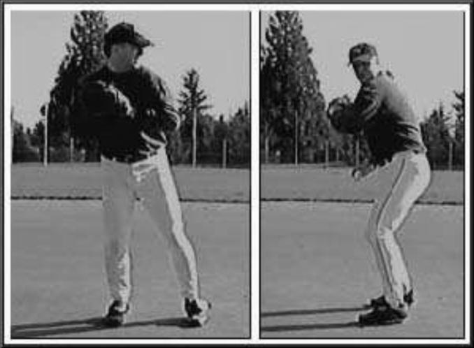 Have players position themselves on one knee approximately 6-feet from their partner. Knee placed on ground should be (throwing arm side).
