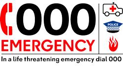 Task Card 3 A 000 CALL 000 is a the NATIONAL emergency hotline service to contact the Police, Ambulance or Fire Services in case of urgent time critical, life threatening situations or other