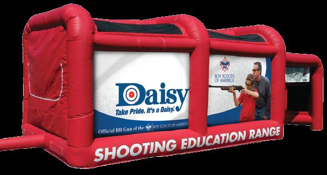 Inflatable BB Gun Range 1,600 00 3 23 5 Daisy's unique inflatable BB Gun Range is powered by a small fan and inflates in less than one minute for easy setup indoor or outdoor.