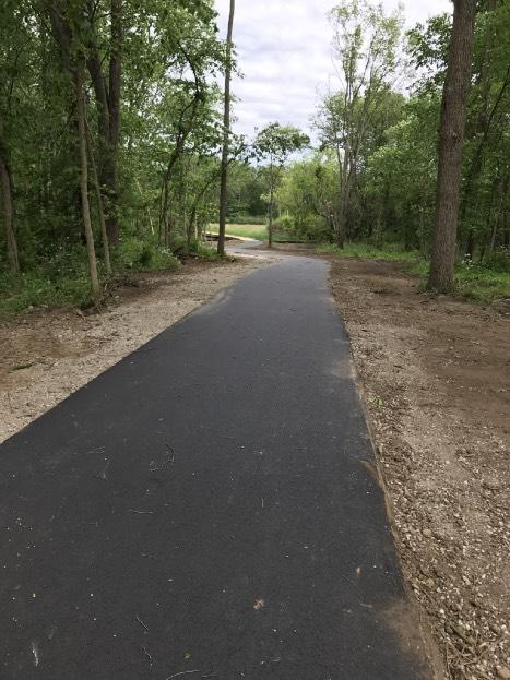 More work is planned this summer for Kibby Road, including a new bike trail that will connect this trail to the trails at the Cascades Park.