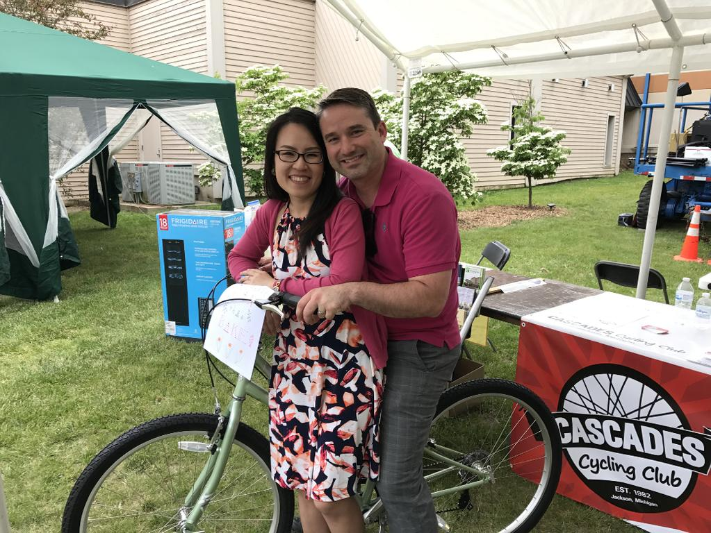 June Newsletter 2017 Art, Beer & Wine Festival - Bike Give Away Winners! Just look at the smiles on Maggie & John s faces!