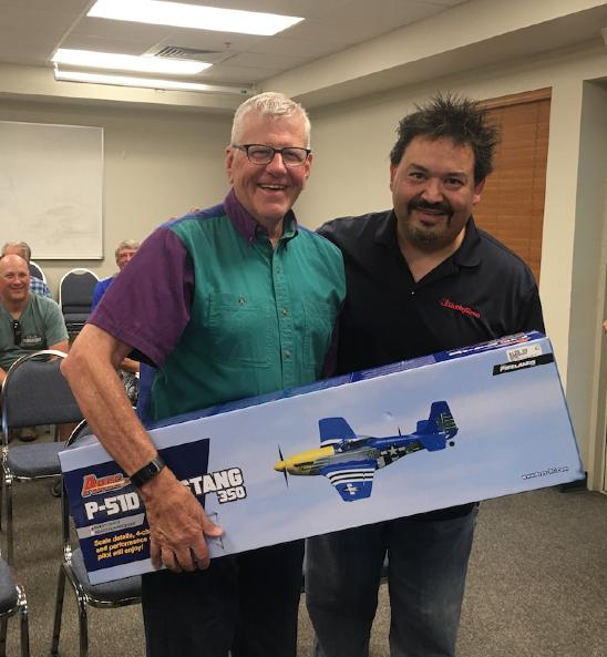 Member at Large - Jim Walker - Program for the evening. The Show and Tell session consisted of Rick Gutierrez from our new Local Hobby Shop in Parker, HobbyTown.