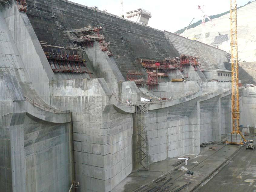 spillway,120m high), commissioned in