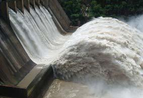 I- Introduction As a key concern for long term stability of downstream dam toes (eg Kariba), scour development process has been widely investigated since early times of dam engineering.