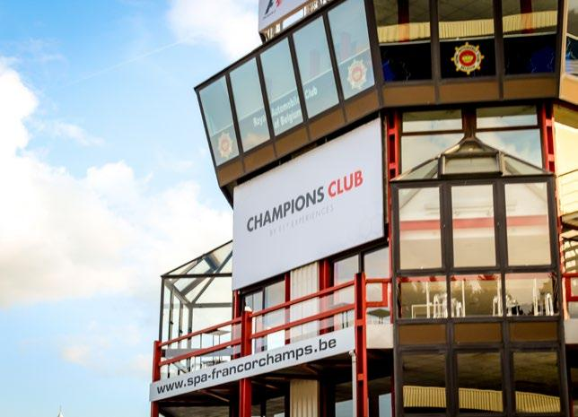 CHAMPIONS CLUB BY F1 EXPERIENCES Included in Champion Packages Enjoy luxury and elegance during the Grand