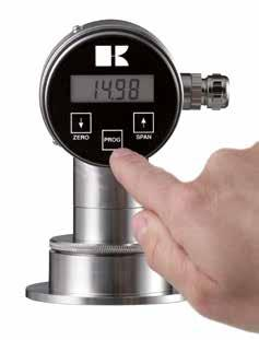 General information series 2000 Calibration As standard the Series 2000 is always equipped with a display and 3 pushbuttons for easy calibration.
