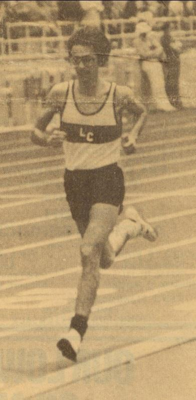 winning the 1600m run at the 1983 State Track