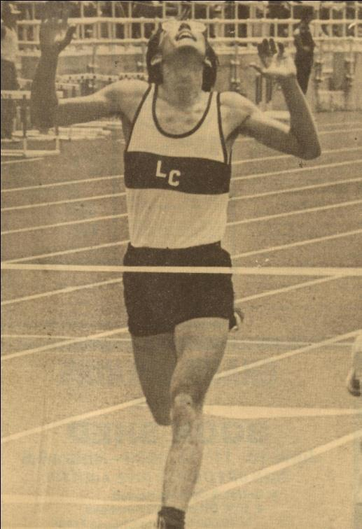 running at the 1983 State Track Meet.