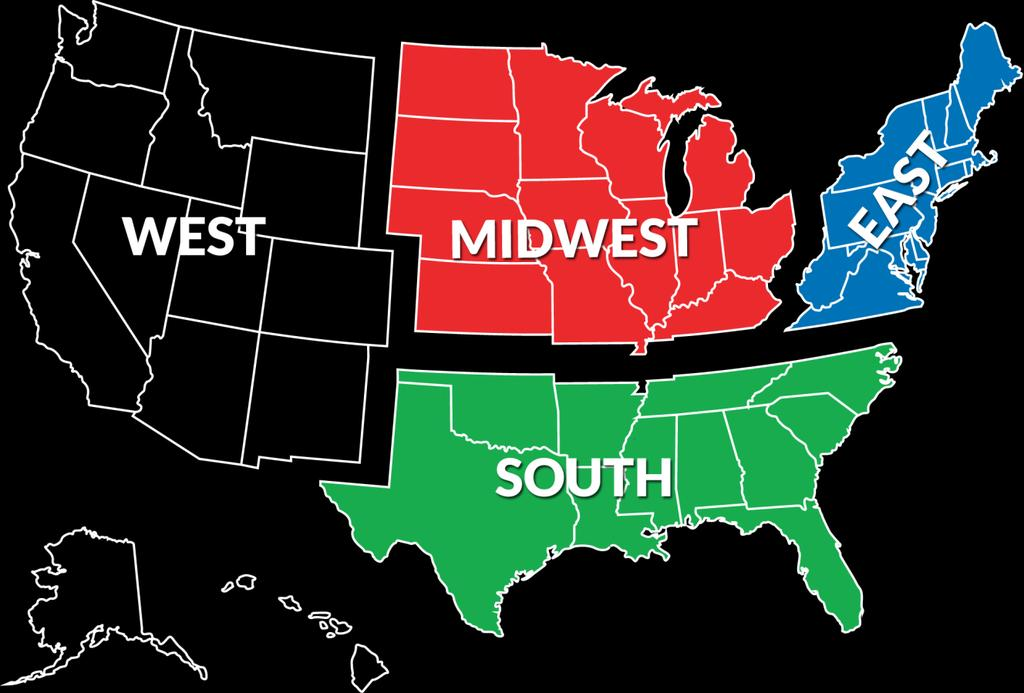 US Youth Soccer Regions and Region Team Colors