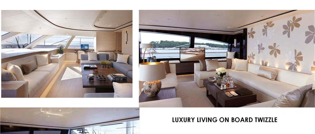 LUXURY LIVING ON BOARD TWIZZLE TWIZZLE s interior design makes the most of natural light and uses