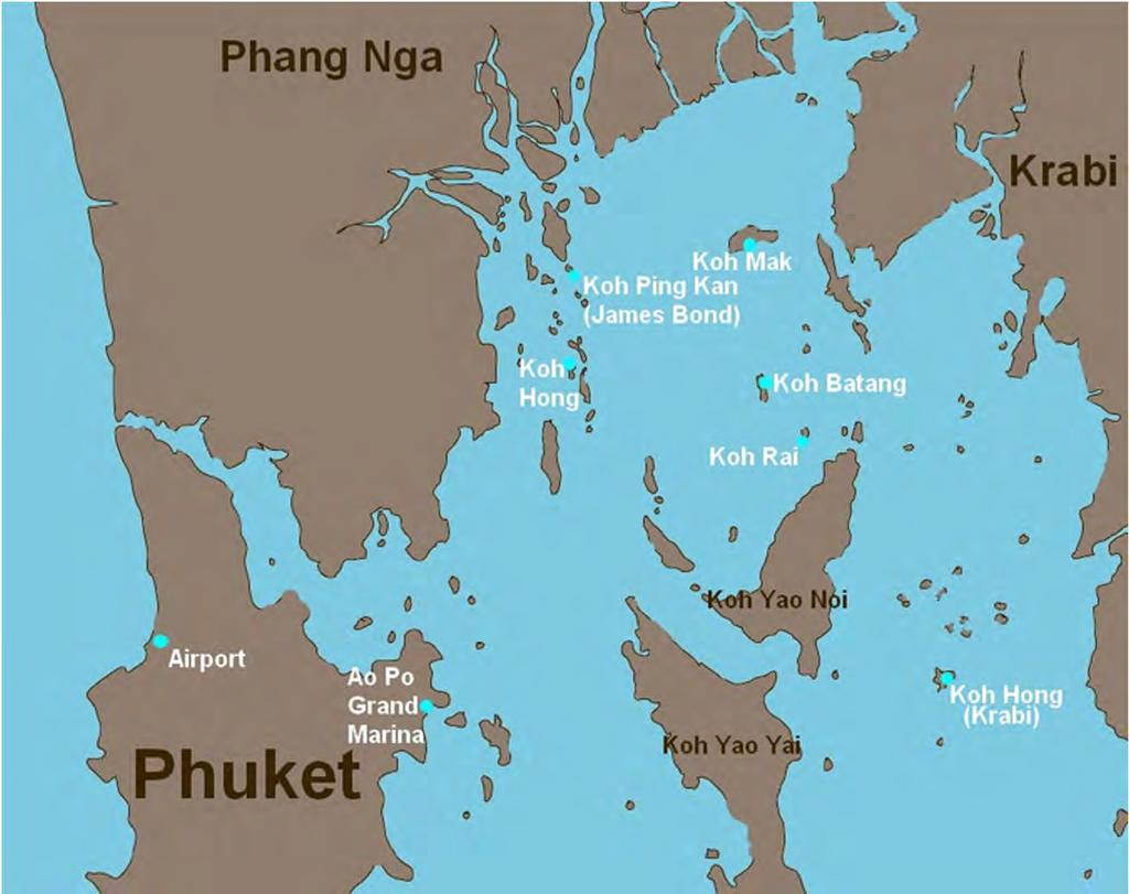 Phuket to Langkawi or vice versa