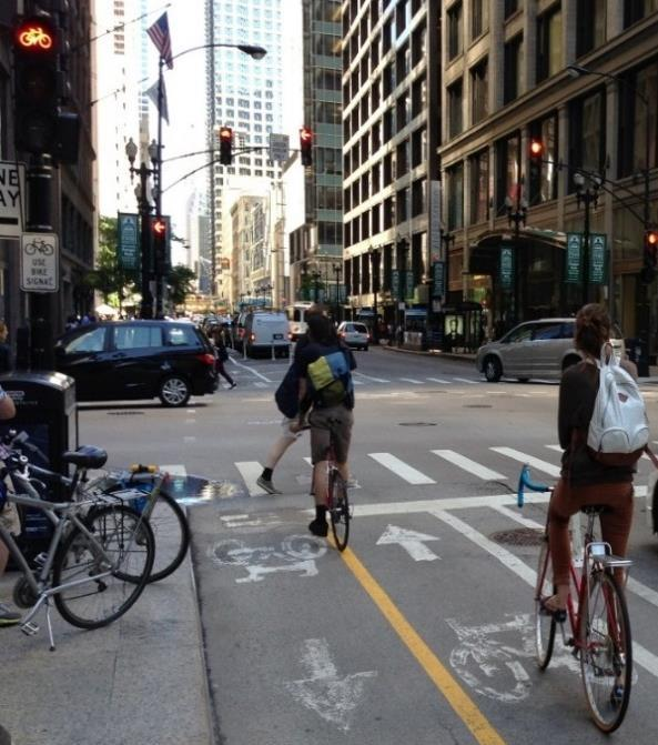Findings: Use of Traffic Signals to Separate Movements One design approach is to separate the conflicting movements of turning motor vehicles and through bicycles using signal phasing.