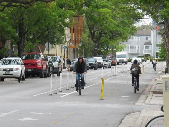 Findings: Neighborhood Desirability and Economic Activity On the resident and bicycle surveys, questions were asked to provide insight into the impact of the protected lanes on neighborhood