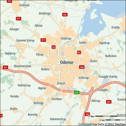Odense 11% on highways 3% on non-highways 20% 11 min 35 h Most congested specific day Sun 23 Dec 2012