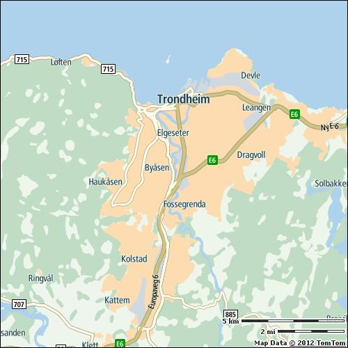 Trondheim 15% on highways 14% on non-highways 20% 20 min 57 h Most congested specific day Thu 25 Oct 2012