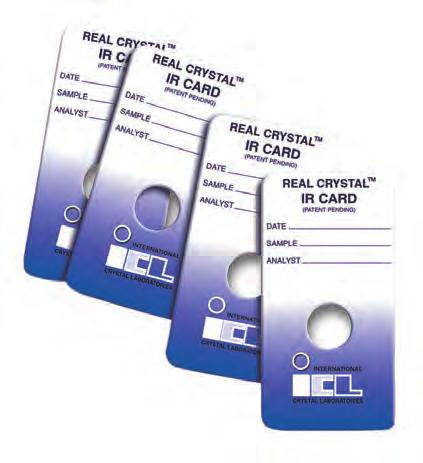 Real Crystal IR cards do not exhibit strong absorbance peaks that limit the utility of PTFE and polyethylene sample cards.