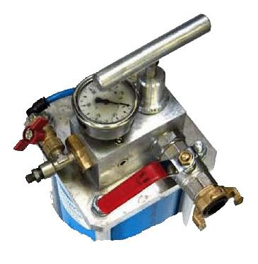 Inflation Hand Pump Model VHP100 VHP 100 pump is particularly well adapted to the inflation of our packers or to any other application requiring a setting under water pressure.