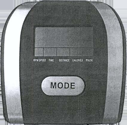 7380D Computer Instruction Manual Buttons: 1. MODE: Press the button to select functions, and hold this button to total reset all function values Fucntions: 1. RPM SPEED: Display exercise speed. 2.