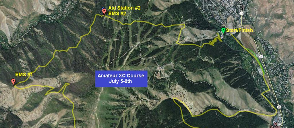 Amateur Cross Country Course is a 27 Km Loop with 2585 Feet of climbing per lap that will run in a clockwise direction. Riders will start and finish at River Run Lodge base area.