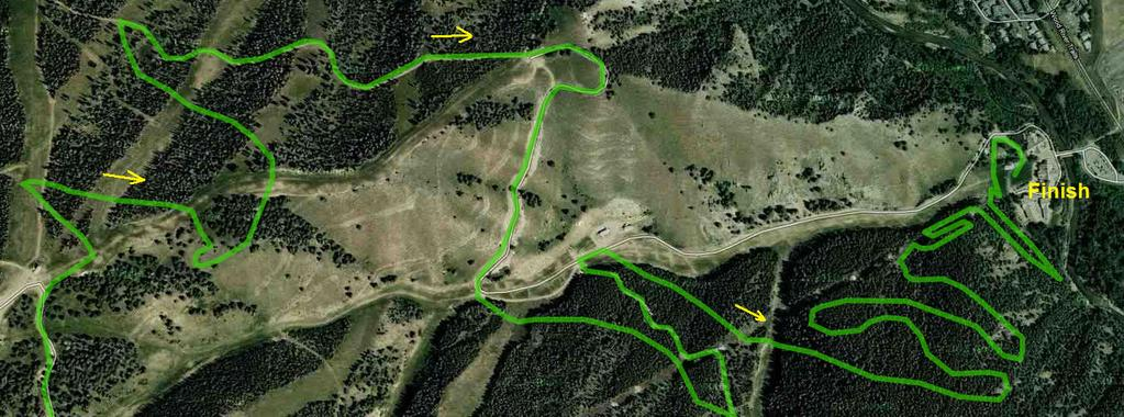 The Super D Course is a 9.1 Km Course with two climbs at 300 feet a piece at the start and two thirds through the course.