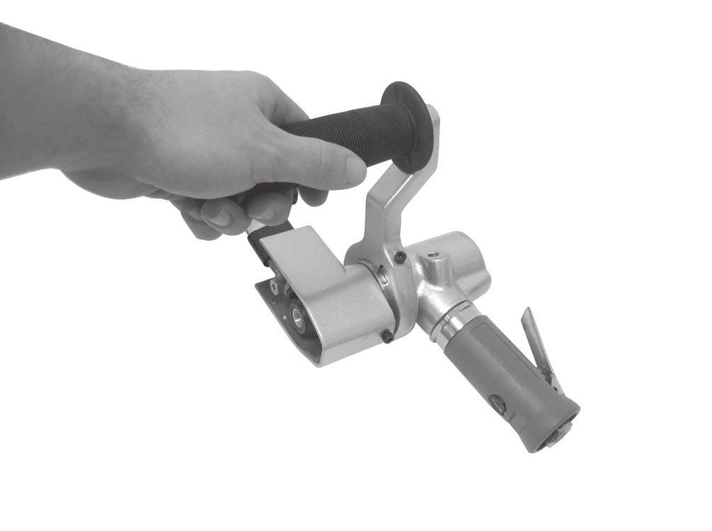 Thread the handle into the handle arm, as shown in Figure 4. 2. Slide the contact arm assembly onto the air motor, making sure it is snug against the shoulder, as shown in Figure 3.