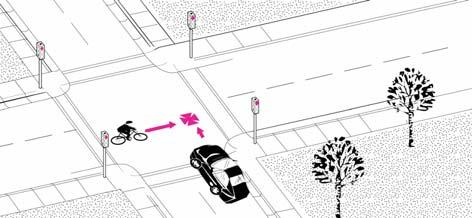 Motorist Drive Out-Signalized Intersection A motorist is