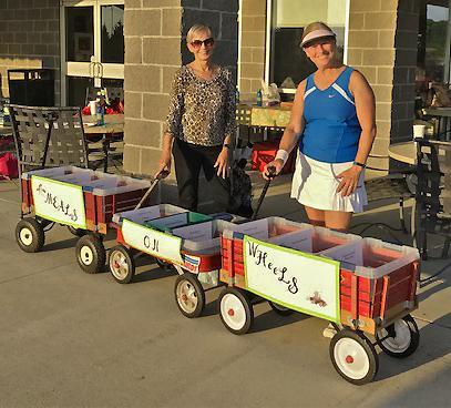 Karen Mitchell s Meals On Wheels wagons were filled with lots of donations for the goody bags we will be filling to distribute to the Meals On Wheels recipients.