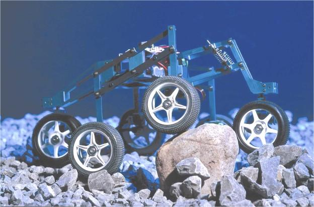 SHRIMP wheeled climbing Passive handling of rough terrain 6 wheels for